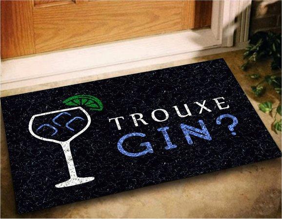 Tapete Capaho Bem Vindo Trouxe Gin?