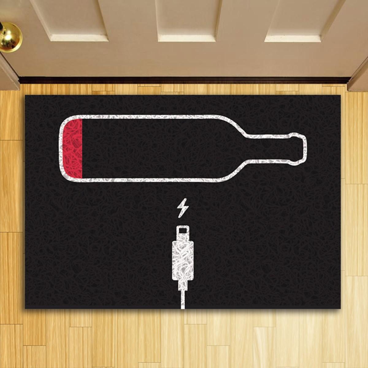 Tapete Capacho Carregando Vinho
