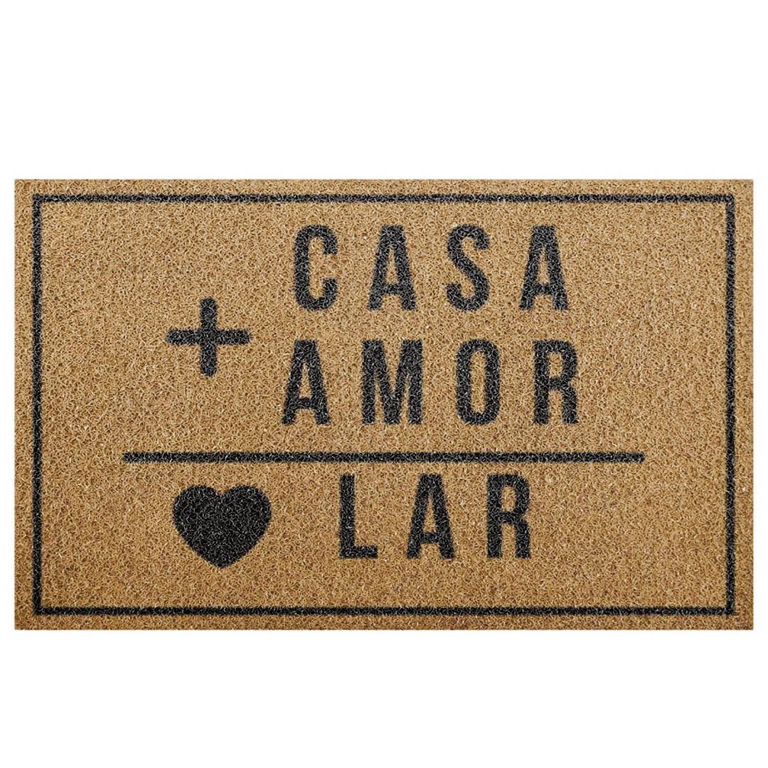 Tapete Capacho 'Casa+Amor É = Lar'