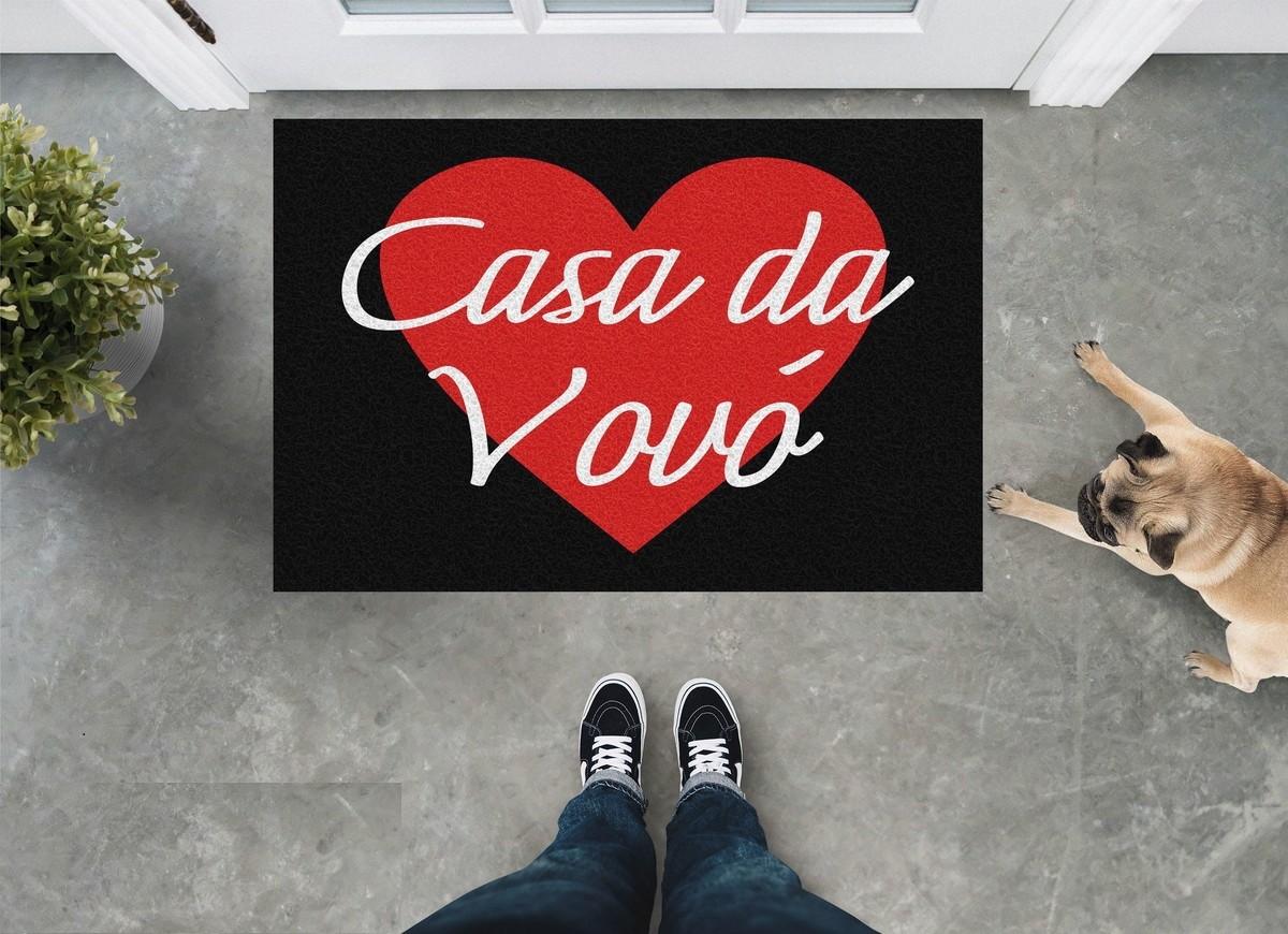 Tapete Capacho 'Casa Da Vovó'