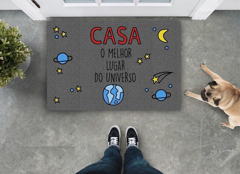 Tapete Capacho 'Casa O Melhor Lugar Do Universo'