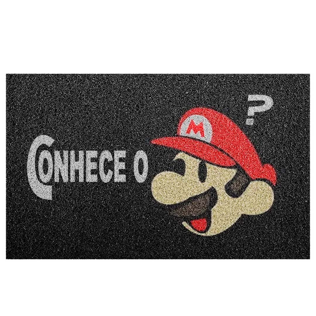 Tapete Capacho Conhece O Super Mario?