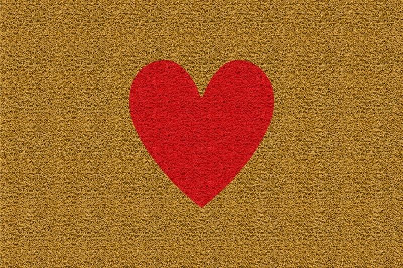 Tapete Capacho Coração