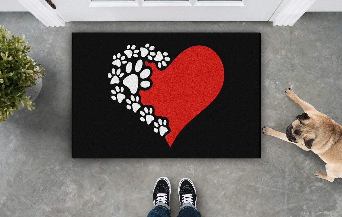 Tapete Capacho Coração Pet