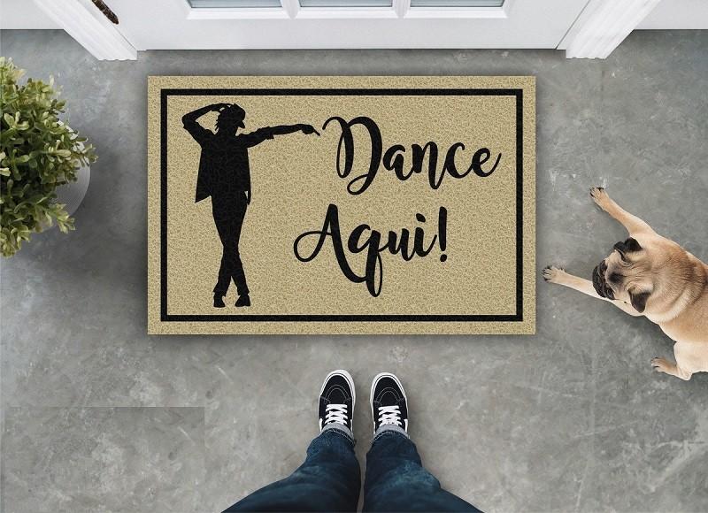 TAPETE CAPACHO DANCE AQUI