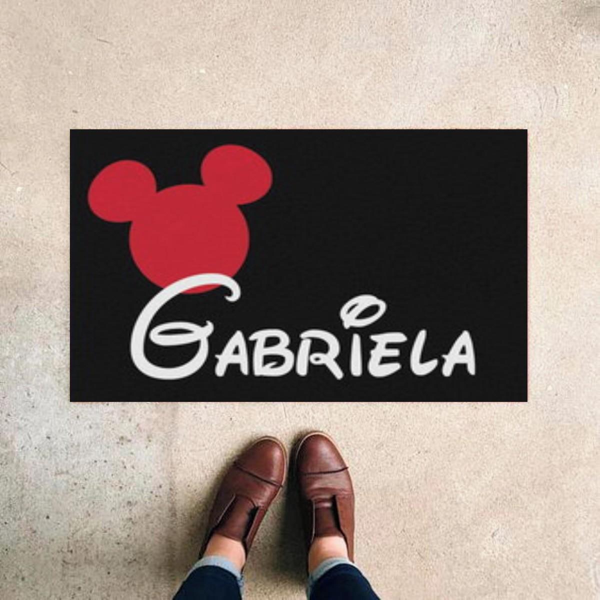 Tapete Capacho Disney + Nome