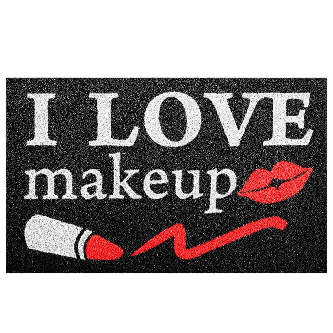 Tapete Capacho Divertido 'I Love Makeup'