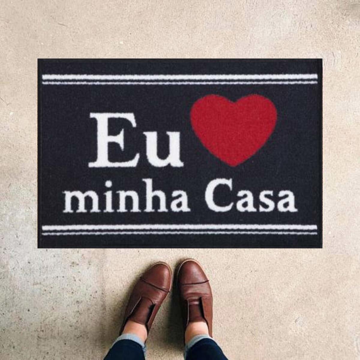TAPETE CAPACHO 'EU AMO A MINHA CASA'