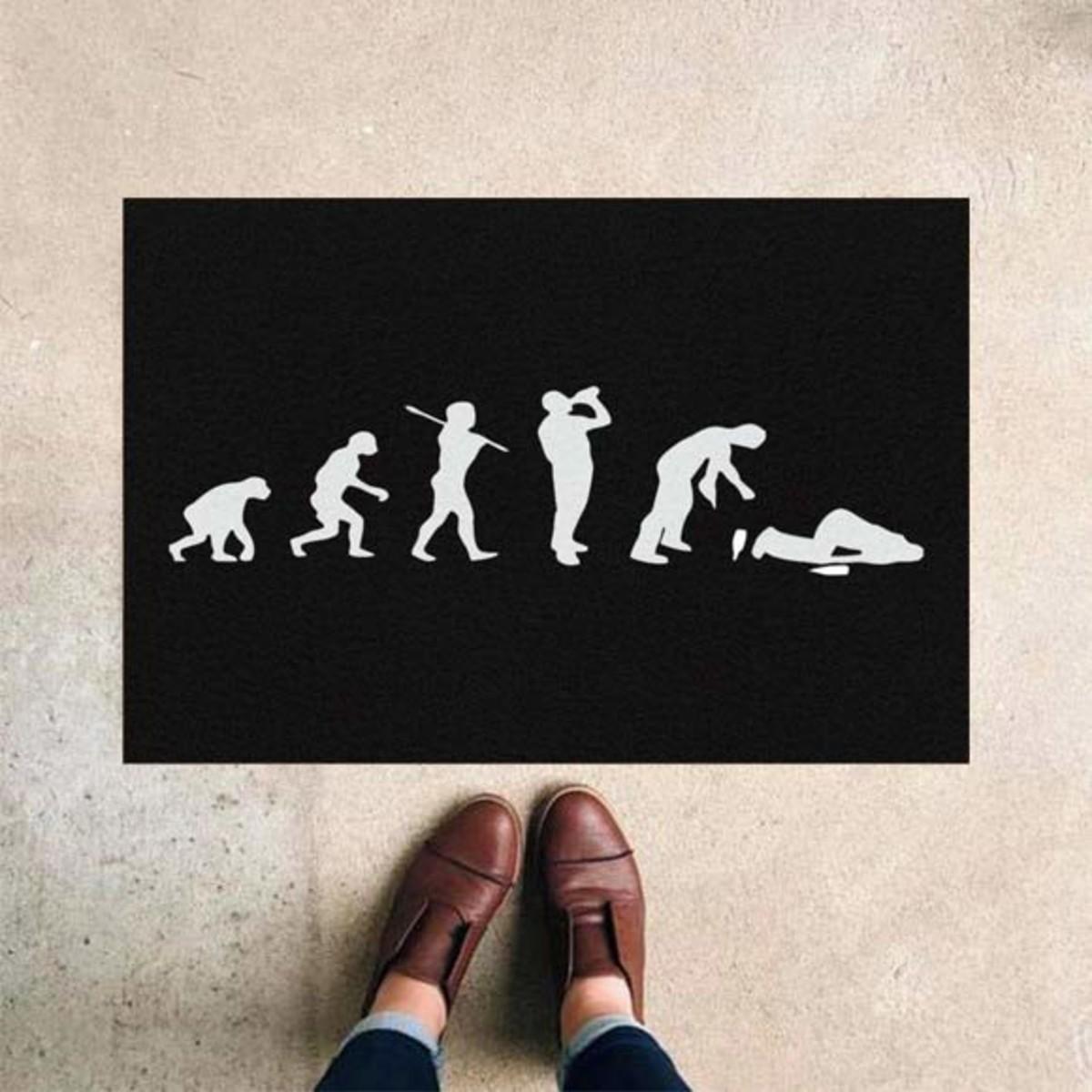 Tapete Capacho Evolução Do Homem