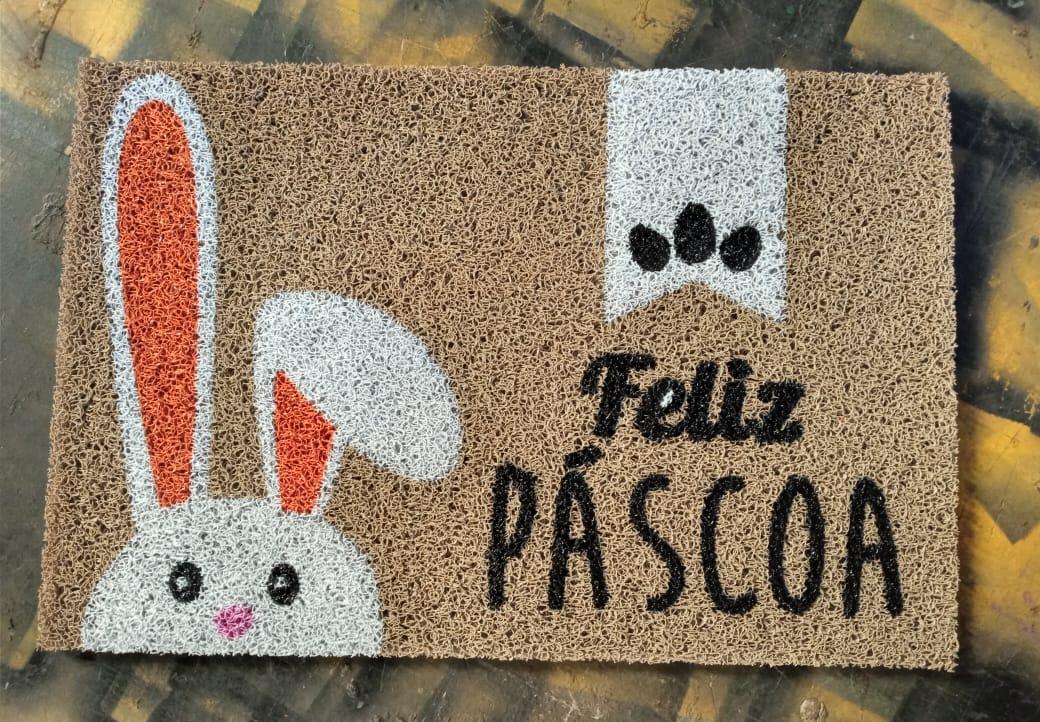 Tapete Capacho Feliz Pascoa