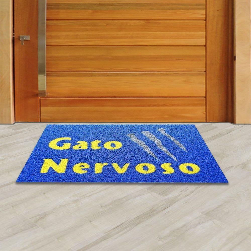 Tapete Capacho Gato Nervoso