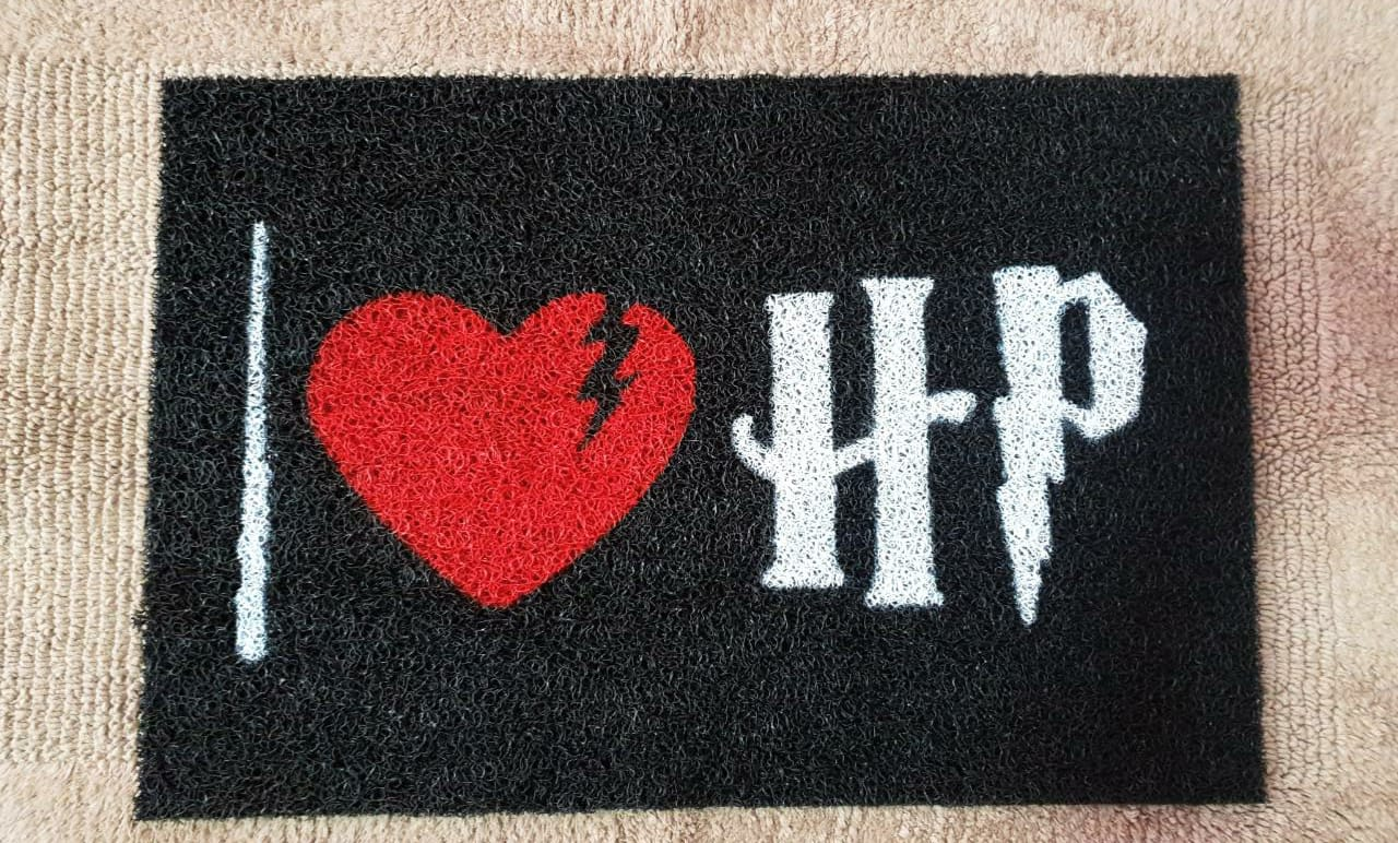 Tapete Capacho Harry Potter I Love Hp