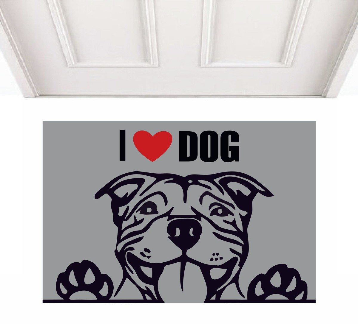 TAPETE CAPACHO I LOVE DOG PIT BULL