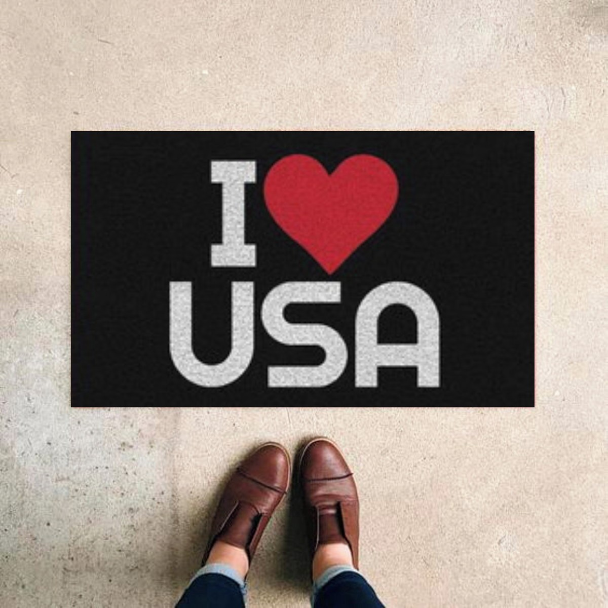 TAPETE CAPACHO I LOVE USA