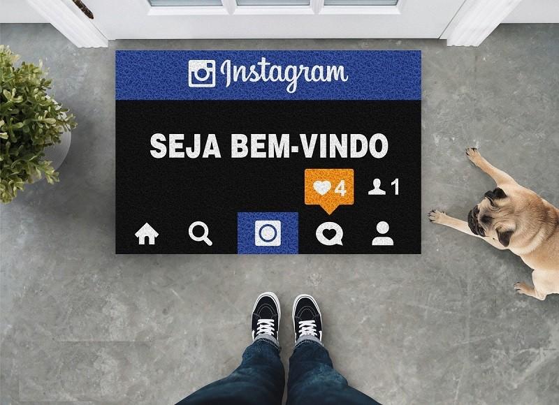 Tapete Capacho Instagram Seja Bem Vindo