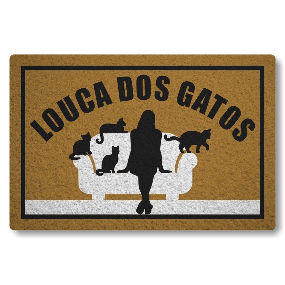 Tapete Capacho Louca Dos Gatos