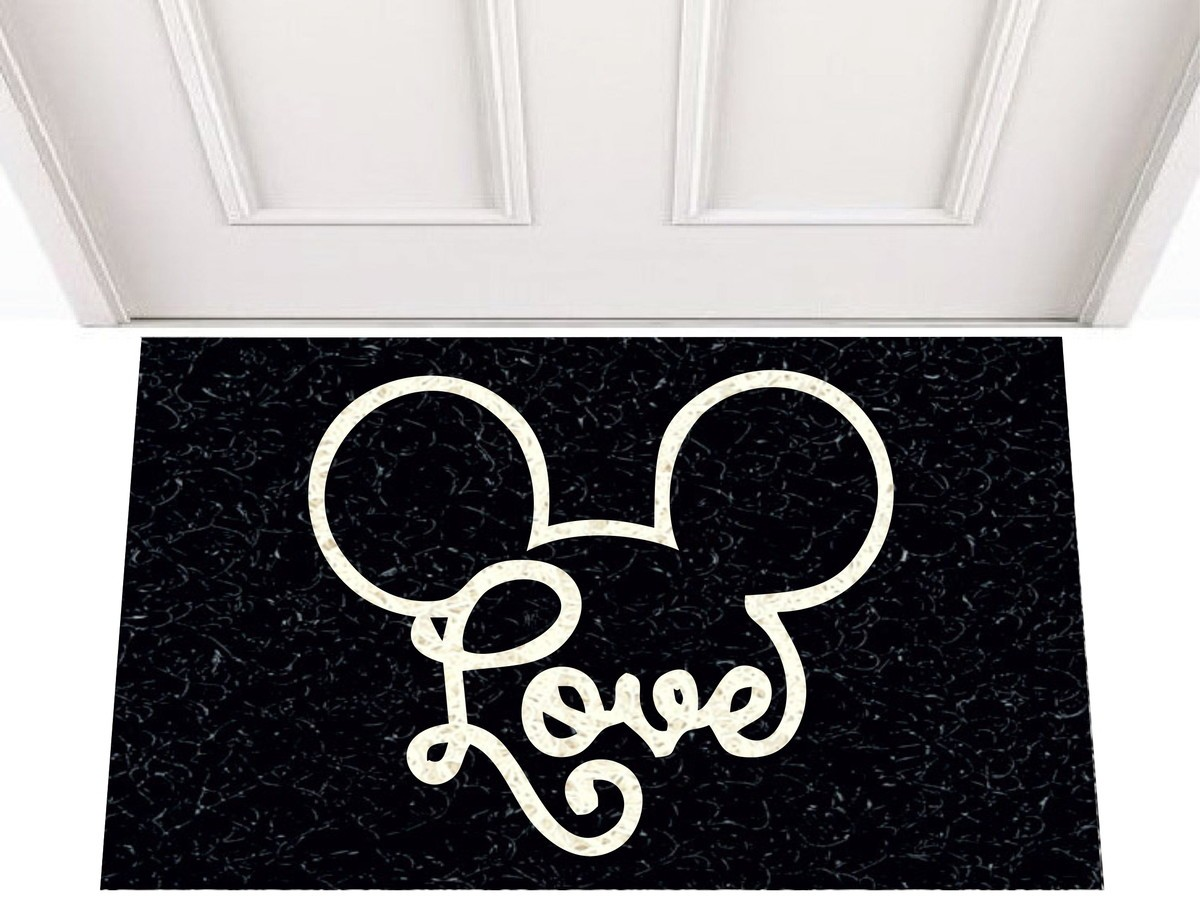 Tapete Capacho Love Disney