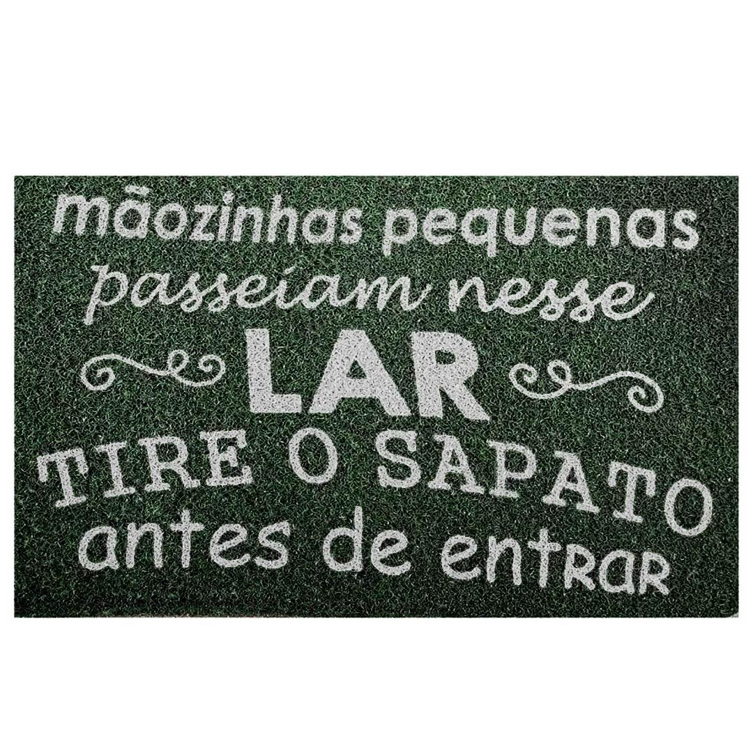 Tapete Capacho ' Mãozihas Pequenas Passeiam Nesse Lar'