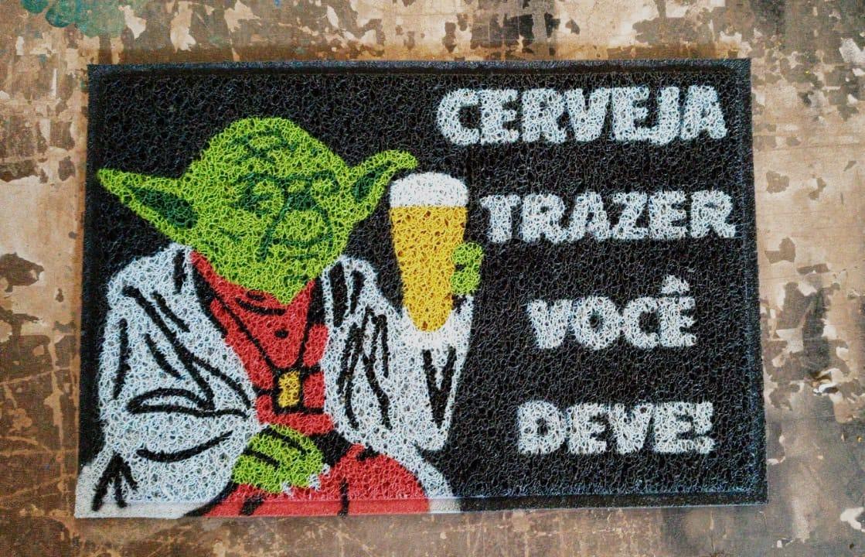 Tapete Capacho Mestre Ioda Cerveja Trazer Você Deve.