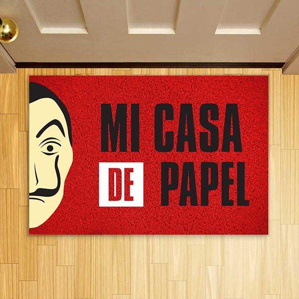 TAPETE CAPACHO MI CASA DE PAPEL 60X40