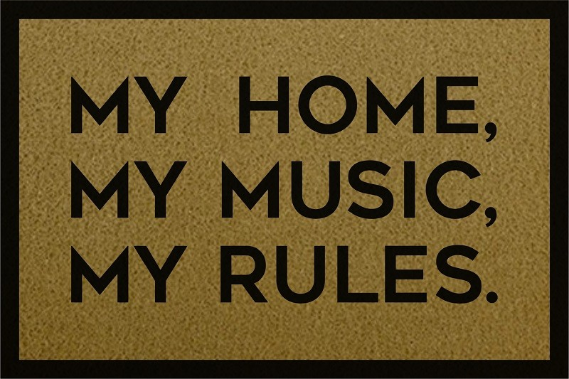 TAPETE CAPACHO 'MY HOME, MY MUSIC, MY RULES'