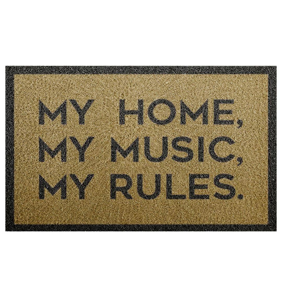 Tapete Capacho 'My Home, My Music, My Rules'