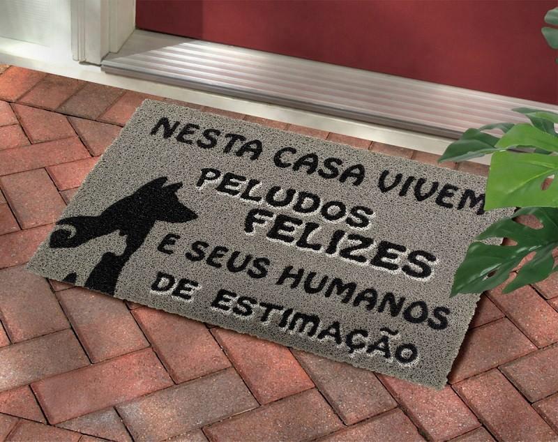 Tapete Capacho Nessa Casa Vivem Peludos Felizes E Seus Humanos De Estimção