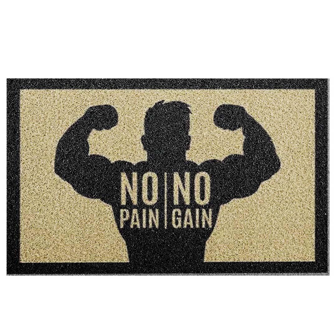 Tapete Capacho 'No Pain/No Gain'