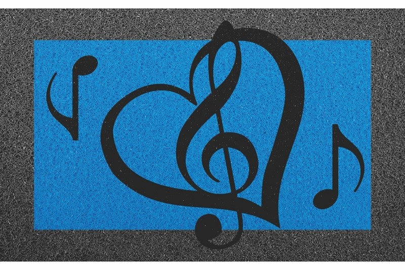 Tapete Capacho Notas Musicais