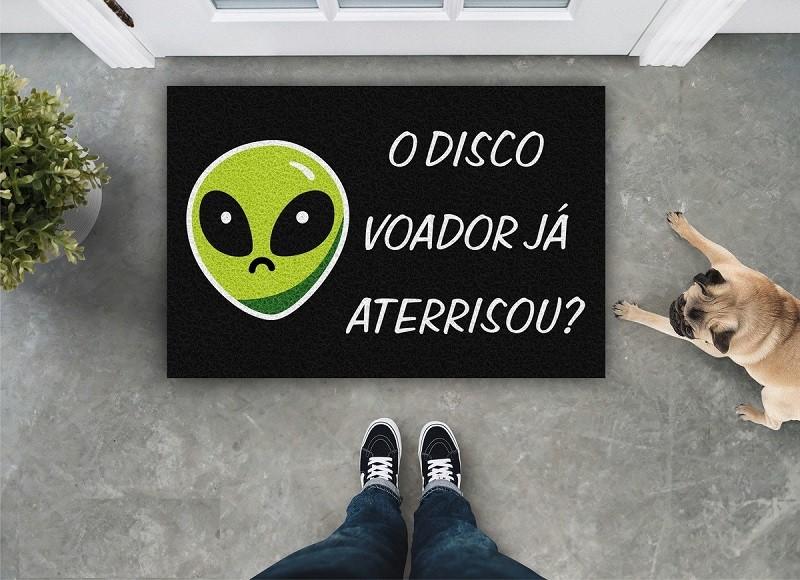 Tapete Capacho 'O Disco Voador Já Aterrissou'