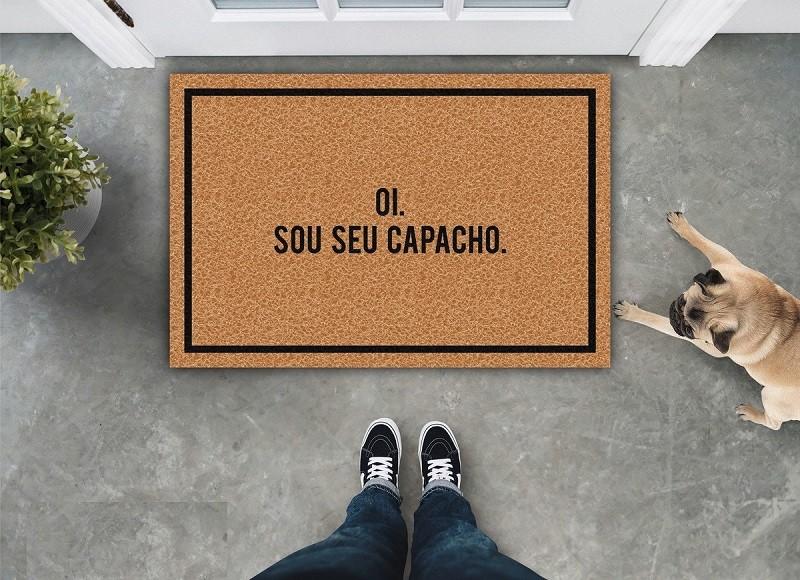 TAPETE CAPACHO 'OI SOU SEU CAPACHO'