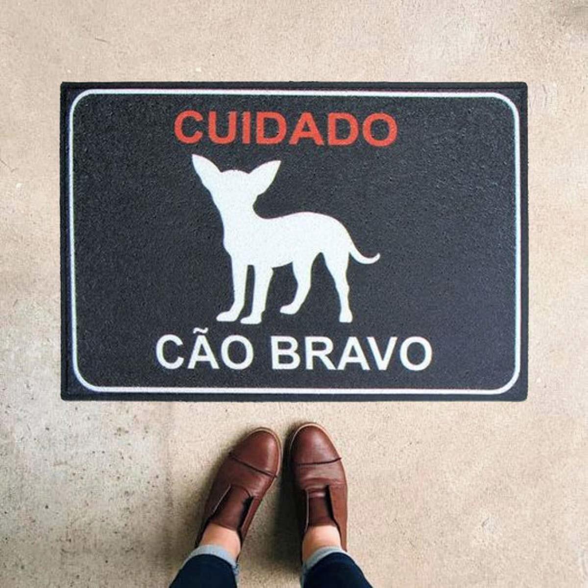 Tapete Capacho Pet Cuidado Cão Bravo