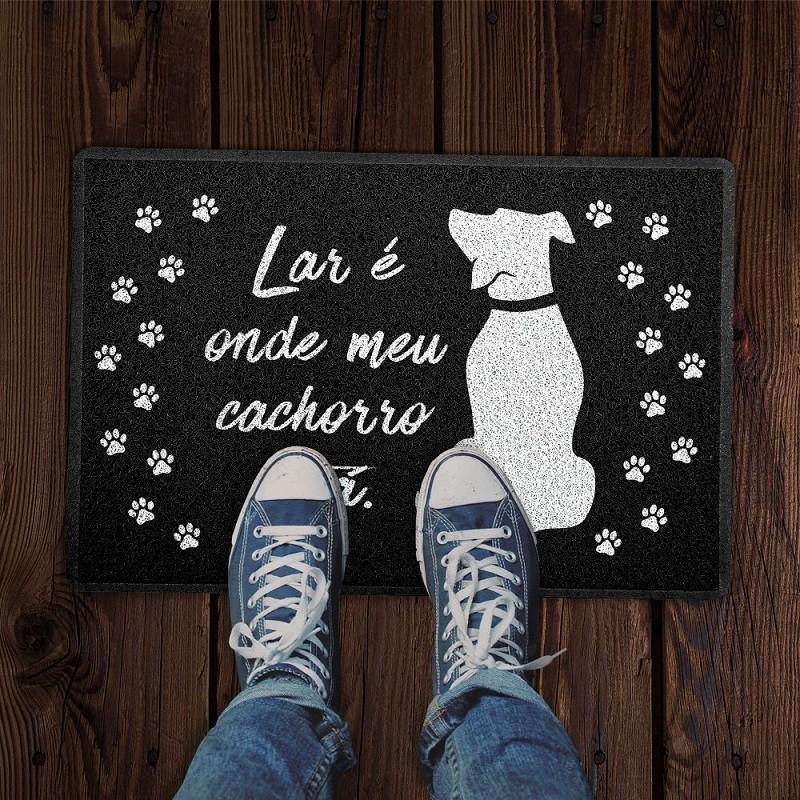 Tapete Capacho Pet 'Lar É Onde Meu Cachorro Está'