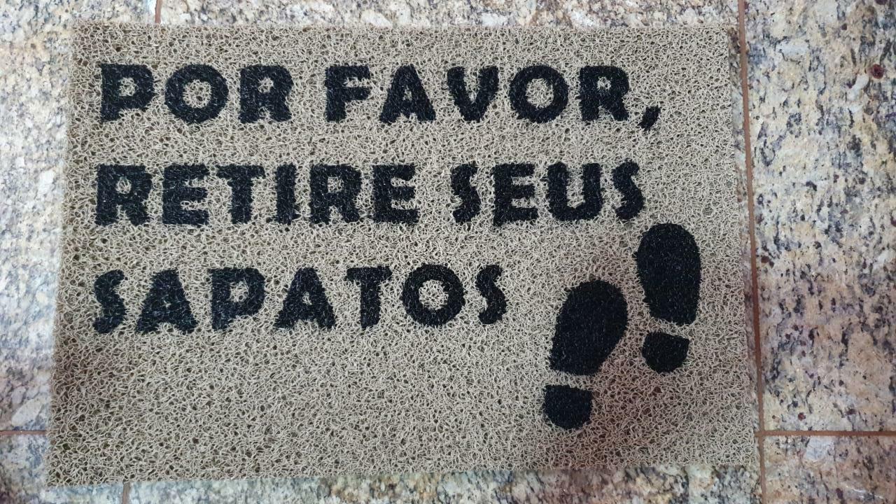 Tapete Capacho Por Favor Retire Seus Sapatos