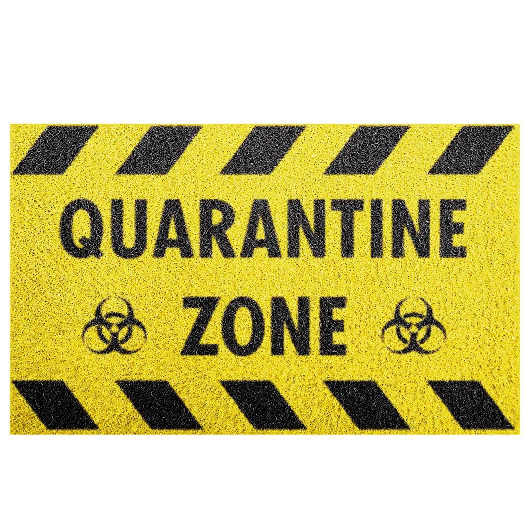Tapete Capacho 'Quarentine Zone'