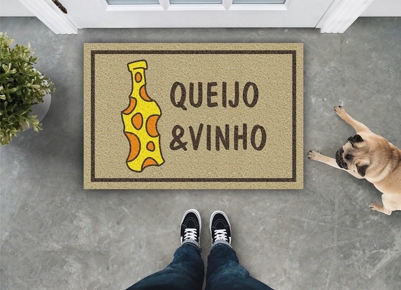 TAPETE CAPACHO QUEIJO E VINHO