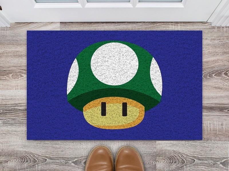 Tapete Capacho Super Mario Cogumelo Verde