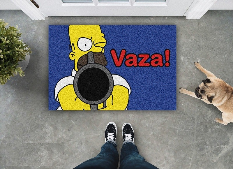 TAPETE CAPACHO VAZA HOMER SIMPSONS
