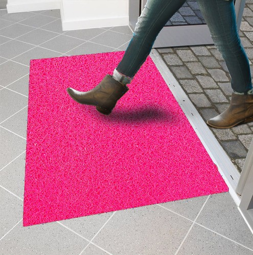 Tapete Capacho Vinil Rosa pink
