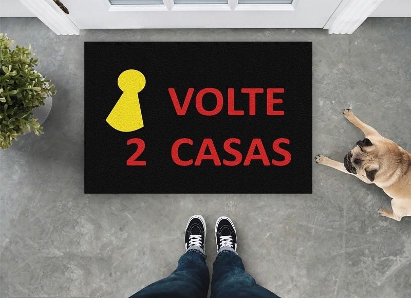 Tapete Capacho Volte Duas Casas