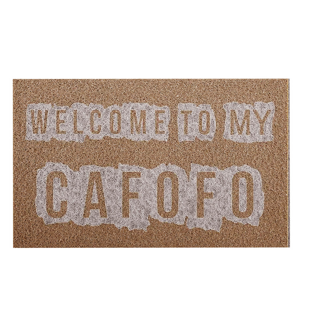 Tapete Capacho Welcome To My Cafofo
