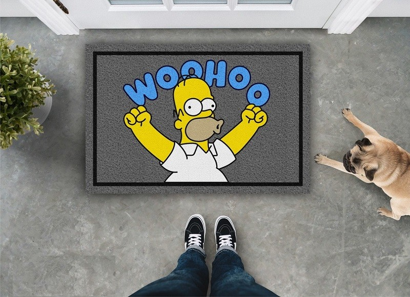 TAPETE CAPACHO WOOHOO HOMER SIMPSONS