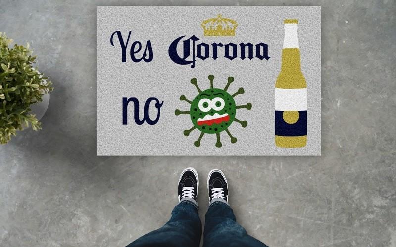 Tapete Capacho Yes Corona No Covid