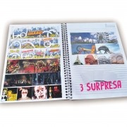 3 Coleções com  21 adesivos exclusivos + 03 surpresa