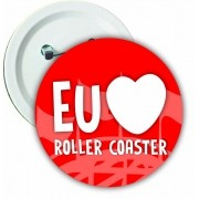 "Botton ""Eu amo Roller Coaster"""