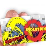 """Película para cartão """"Boomerang e Evolution"""""""