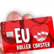 """Película para cartão """"Eu amo Roller Coaster"""