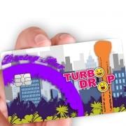 """Película para cartão """"Turbo Drop e Evolution"""""""
