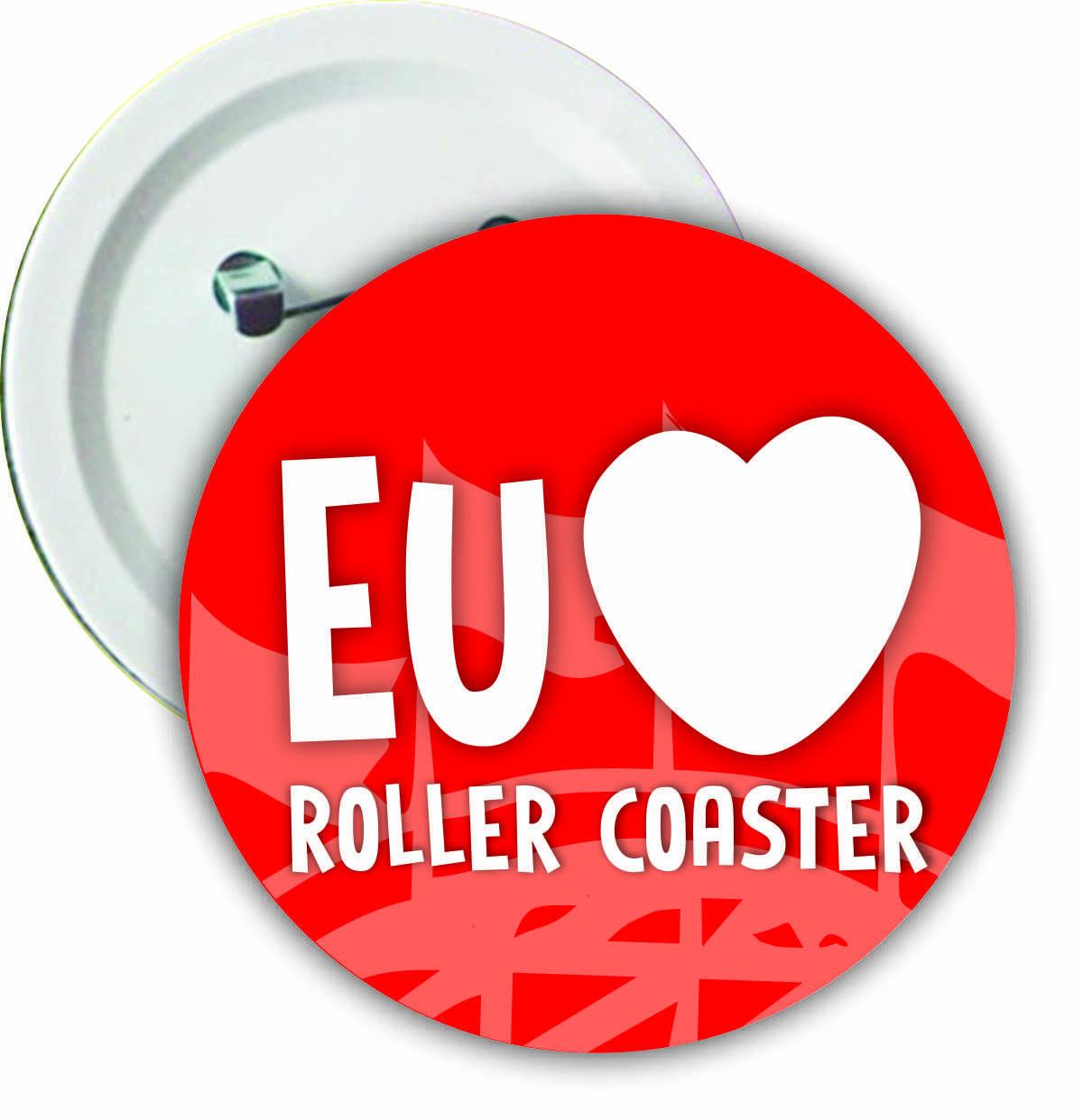 """Botton """"Eu amo Roller Coaster"""""""