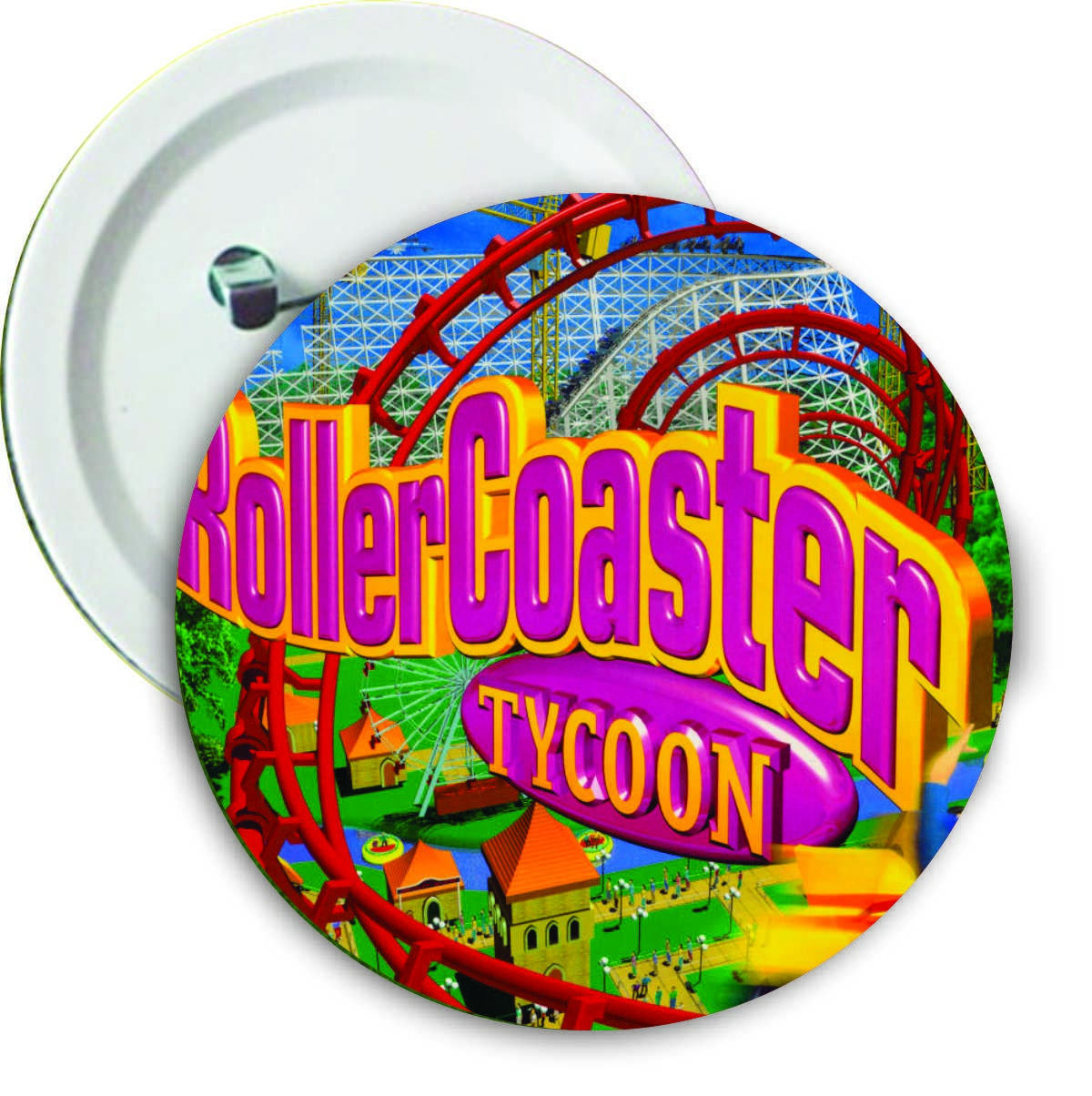 "Botton ""Roller Coaster Tycoon Capa"""